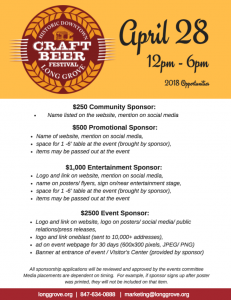 2018 craft beer sponsorships rvsd