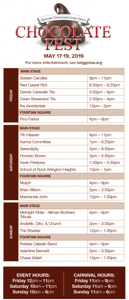 Chocolate Fest « Historic Downtown Long Grove | Shopping, Dining and